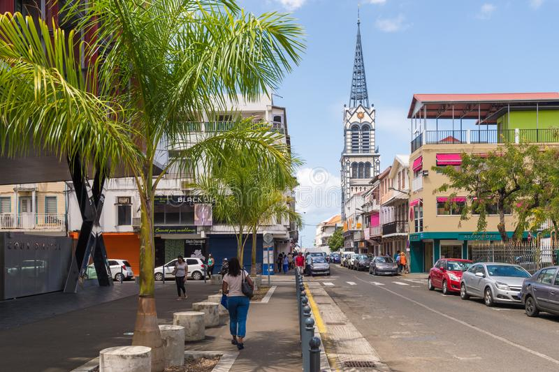 Fort-de-France Martinique, Frankrike royaltyfri bild