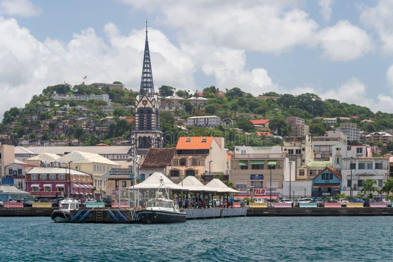 Fort-de-France Martinique, Frankrike arkivbilder