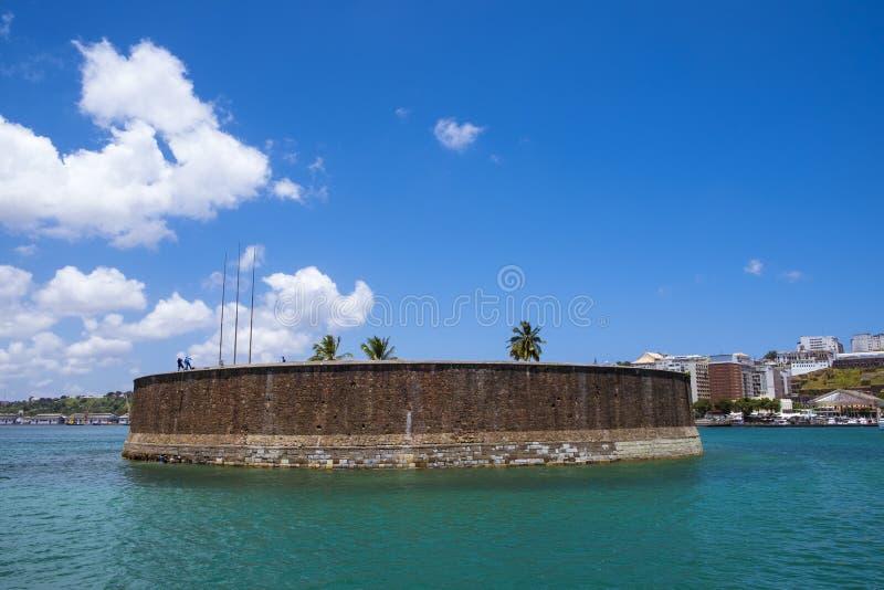 Fort de Marcelo de sao de forte en Salvador de Bahia image stock