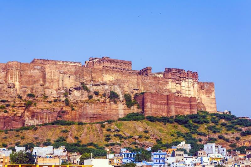 Fort de Mehrangarh dans Jodghpur, la ville bleue du Ràjasthàn photo libre de droits