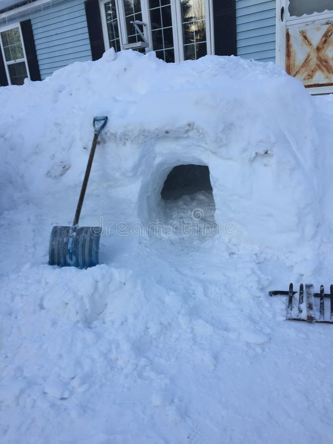 Fort de neige images stock