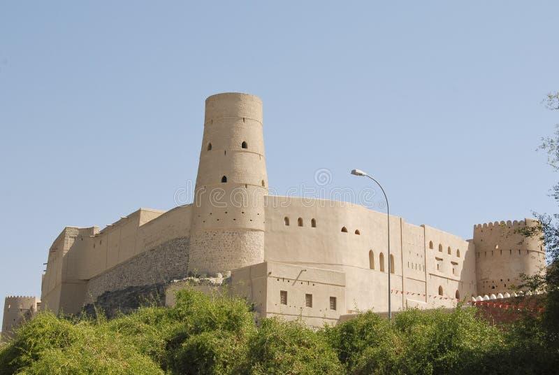 Fort de Nizwa Bahla dans l'annonce Dakhiliya, Oman photo stock