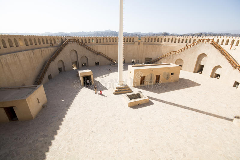 Fort de Nizwa en Oman photographie stock libre de droits