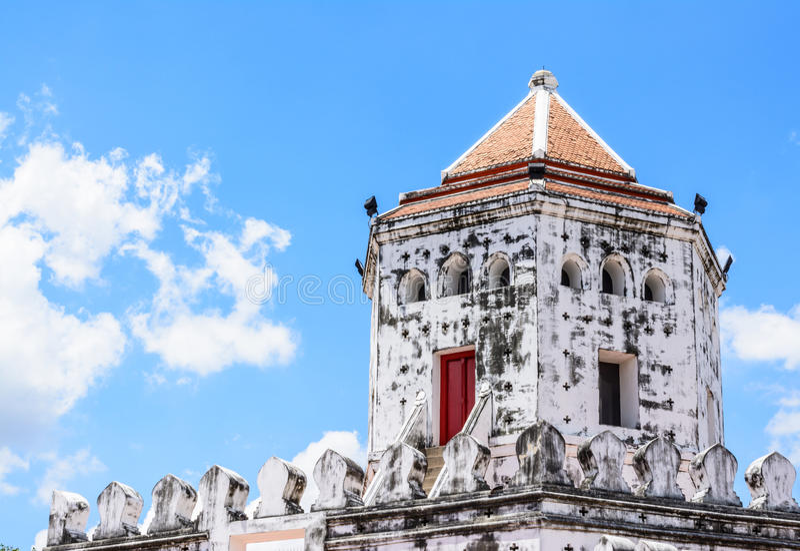 Fort de Phra Sumen à Bangkok, Thaïlande photographie stock