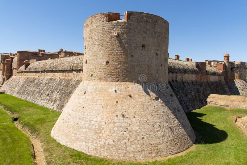 Fort de Salses, im Salses-Le-Chateau, Frankreich stockfotos