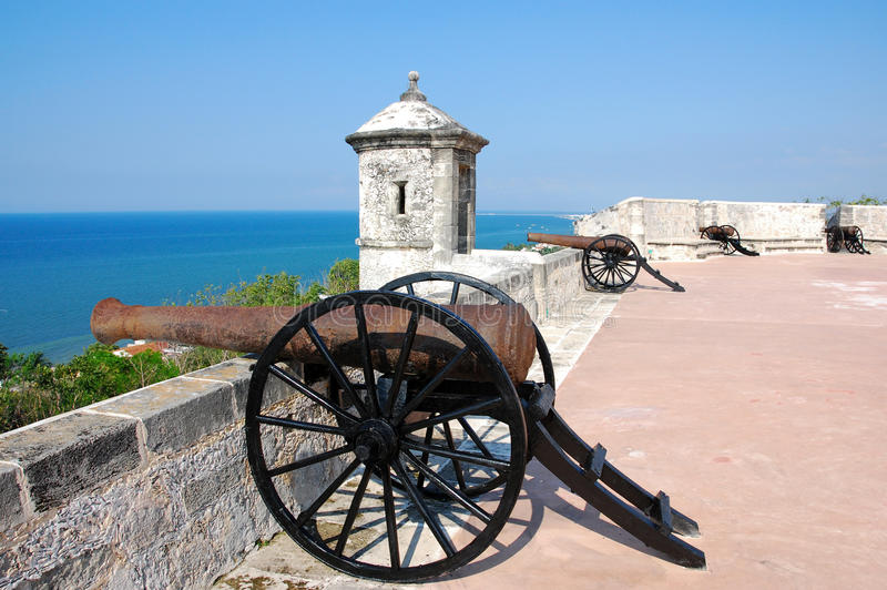 Fort de San Miguel dans Campeche photos stock