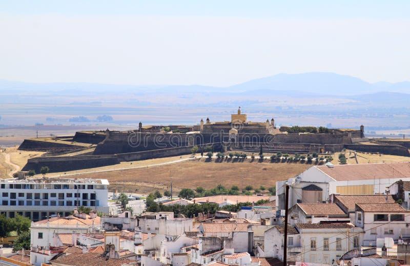 Fort de Santa Luzia vicino a Elvas, Portogallo fotografia stock