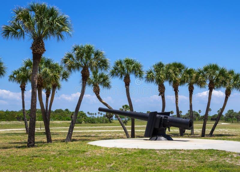 Fort de Soto Canon, la Florida fotos de archivo