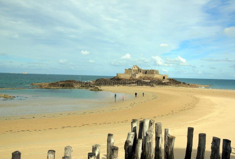 Fort de St Malo Brittany France photos libres de droits