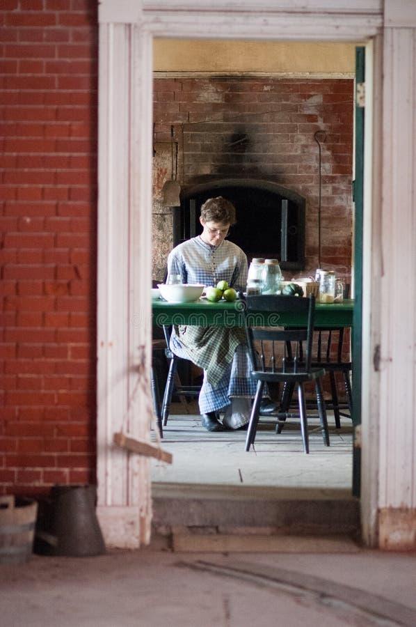 FORT DE STAD VAN DELAWARE, DELAWARE, DE - 1 AUGUSTUS: Het Park van de Staat van fortdelaware, Historische Unie Burgeroorlogvestin stock foto