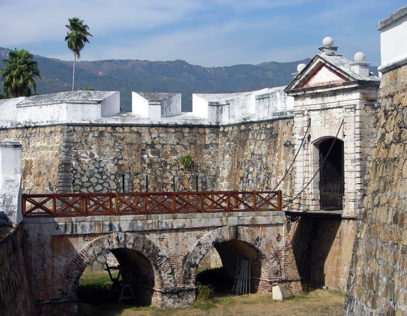 Fort de ville d'Acapulco images stock