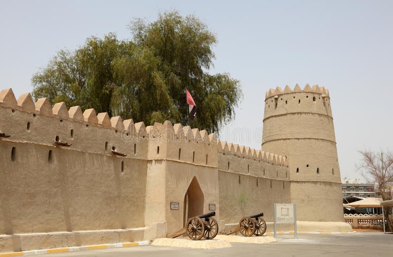 Fort de Zayed de coffre de sultan dans Al Ain photo libre de droits