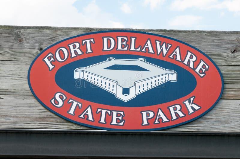 FORT DELAWARE, DELAWARE miasto, DE - SIERPIEŃ 1: Fortu Delaware stanu park, Historyczny Zrzeszeniowy Cywilnej wojny forteca który zdjęcie royalty free
