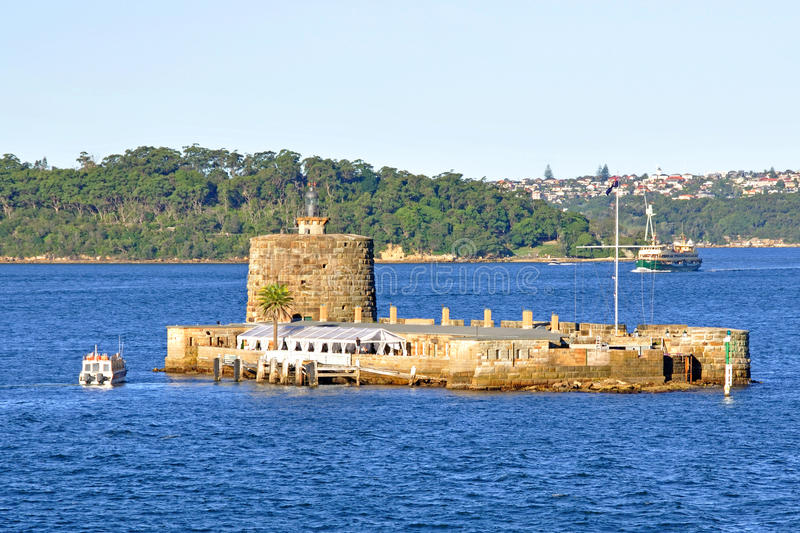 Fort Denison, Sydney Harbour, Australia. Fort Denison was built in the early days of colonisation as a convict prison and later became a Fort designed to defend stock photography