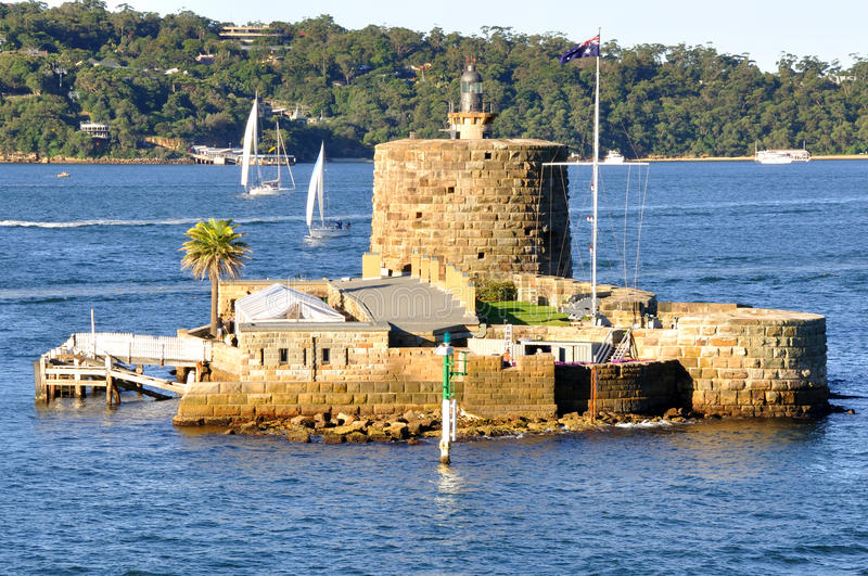 Fort Denison, Sydney Harbour, Australia. Fort Denison was built in the early days of colonisation as a convict prison and later became a Fort designed to defend royalty free stock image
