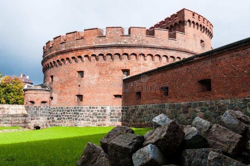 Fort Der Dona. Kaliningrad. Rusland royalty-vrije stock afbeeldingen