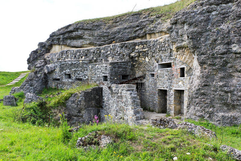 Fort Douaumont, Verdun, France. Verdun, Fort Douaumont World War One Fortifications, France royalty free stock photo