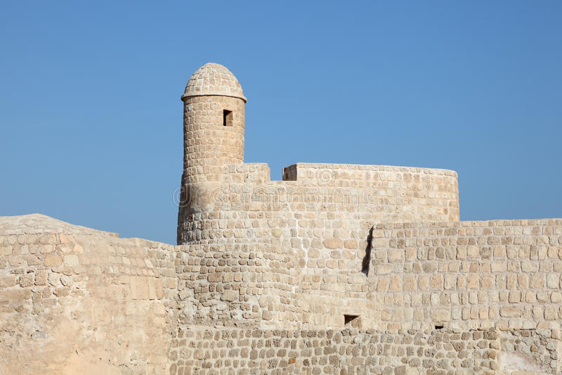Fort du Bahrain à Manama, Moyen-Orient photos libres de droits