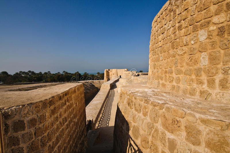 Fort du Bahrain/Al Bahrain de Qal'at photo stock