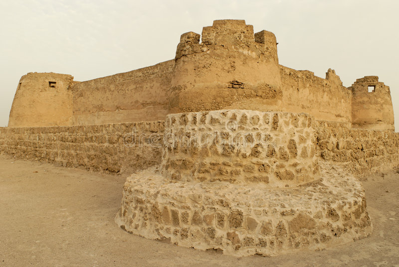 fort du Bahrain d'arad photo stock