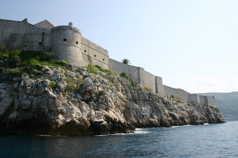 Download Fort in Dubrovnik stock image. Image of harbor, nautical - 5414855