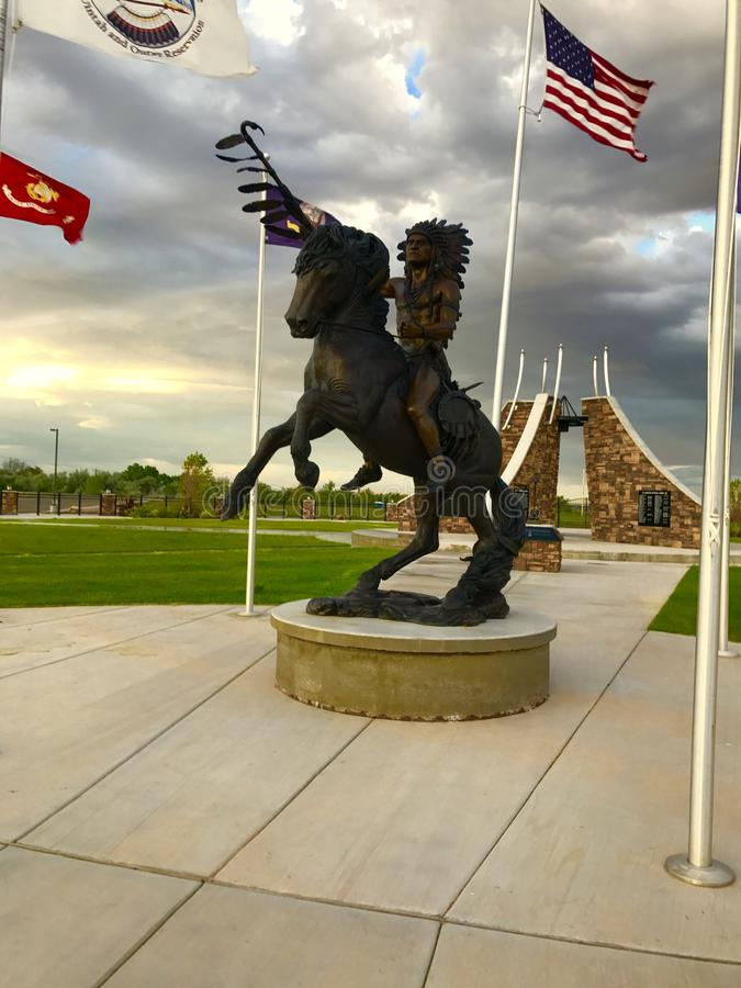 Fort Duchesne statue royalty free stock images