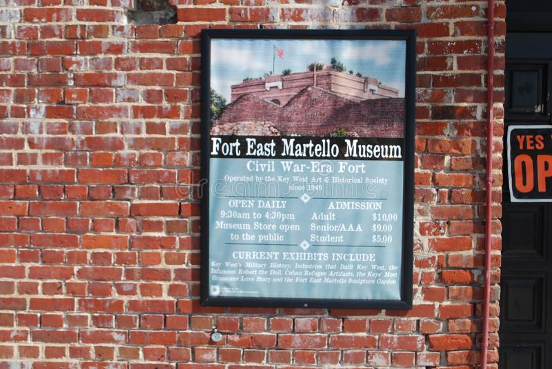 Fort east martello museum royalty free stock images