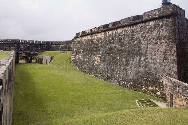 Fort El Morro - Puerto Rico arkivfoton