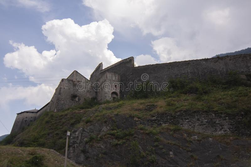 Fort of Exille val di Susa Turin Italy.  royalty free stock photo
