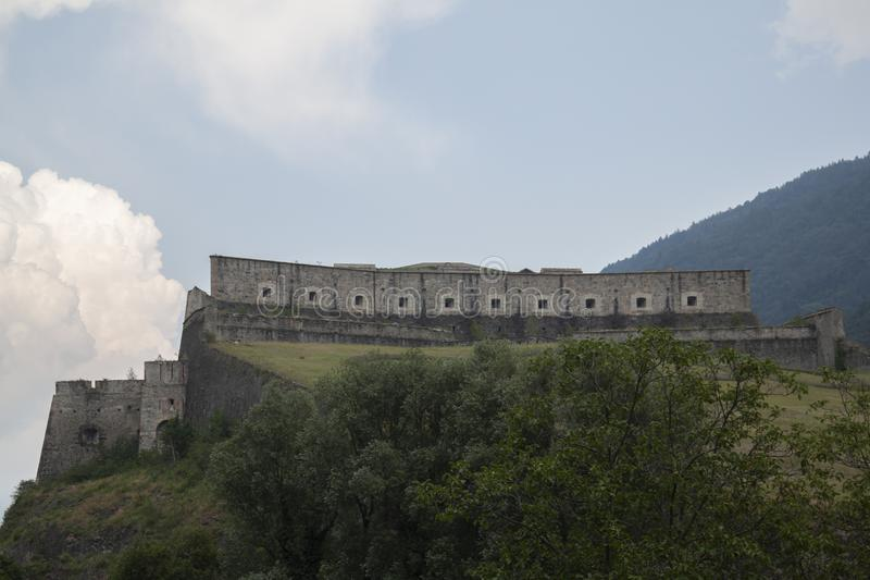 Fort of Exille val di Susa Turin Italy.  royalty free stock image