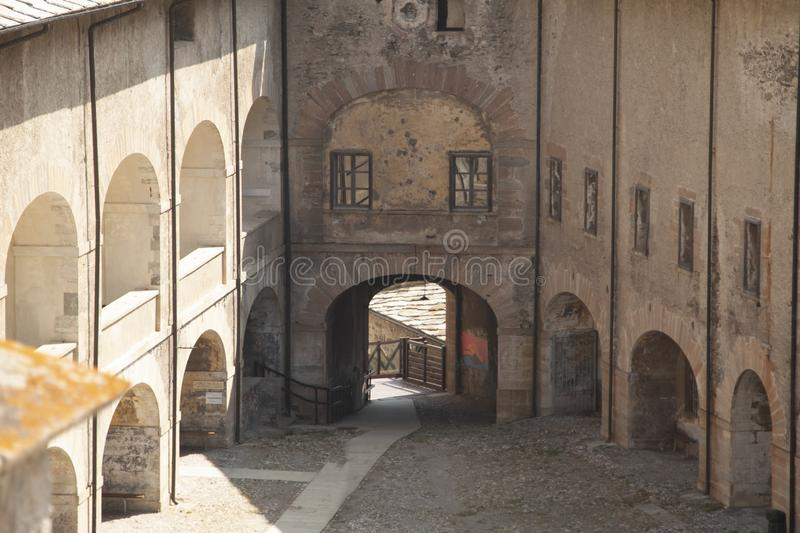 Fort of Exille val di Susa Turin Italy.  stock image
