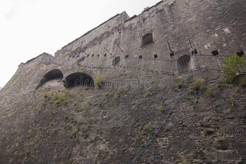 Fort of Exille val di Susa Turin Italy.  royalty free stock images