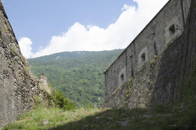 Fort of Exille val di Susa Turin Italy.  stock photography