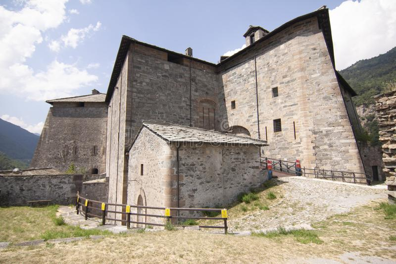 Fort of Exille val di Susa Turin Italy.  stock photo