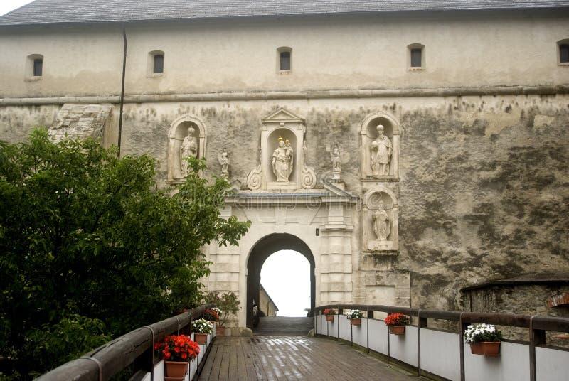 Fort Forchtenstein, Burgenland, Österrike royaltyfria foton