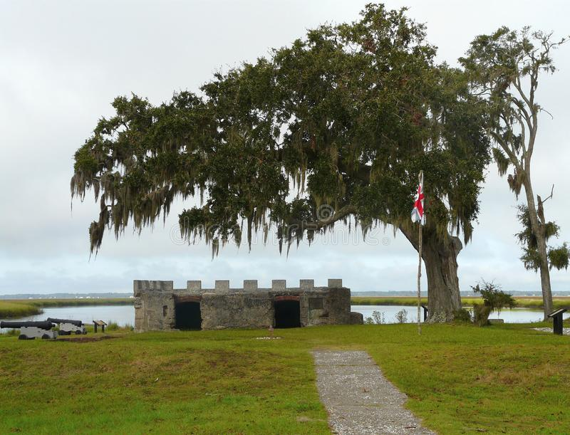 Fort Frederica Kings Powder Magazine Georgia stockfoto