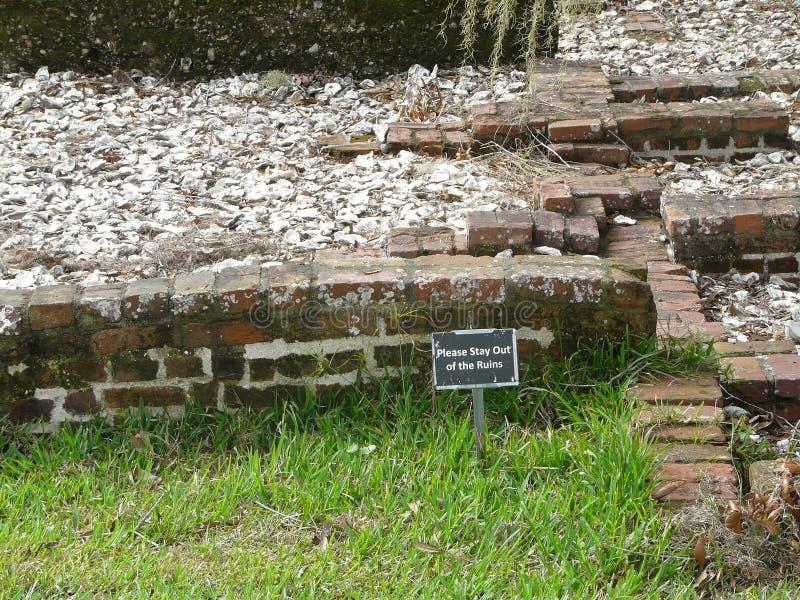 Fort Frederica Ruins St Simons Georgia lizenzfreies stockbild