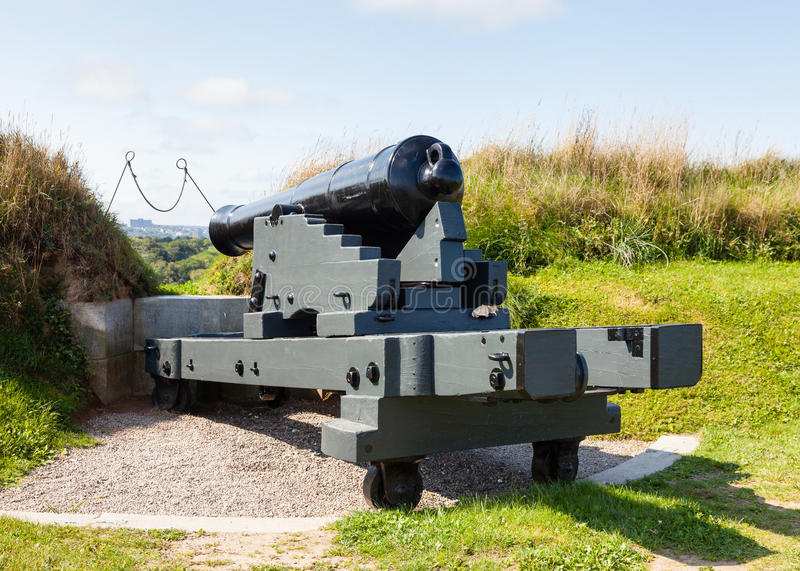 Fort George Canon. A canon defends Fort George on Citadel Hill in Halifax, Nova Scotia, Canada stock photos