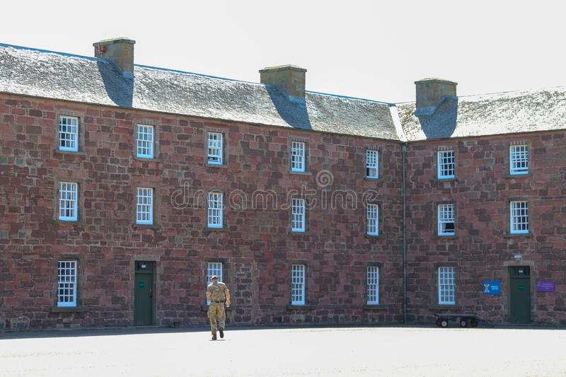 Building in Fort George near Inverness, Scotland stock image