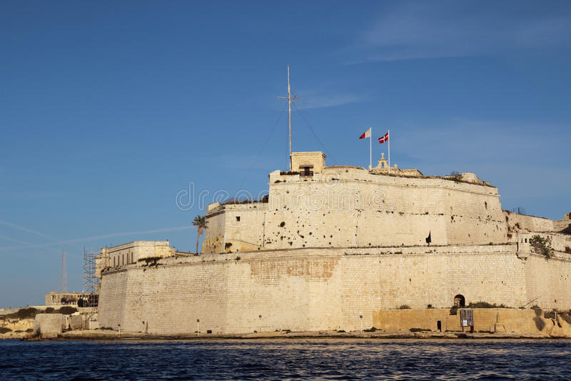 Fort Heilige Angelo, Malta royalty-vrije stock foto