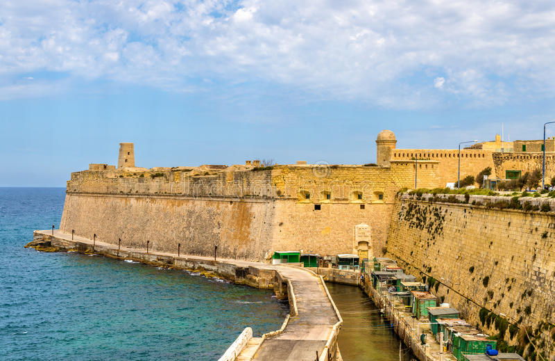 Fort Heilige Elmo in Valletta royalty-vrije stock foto's