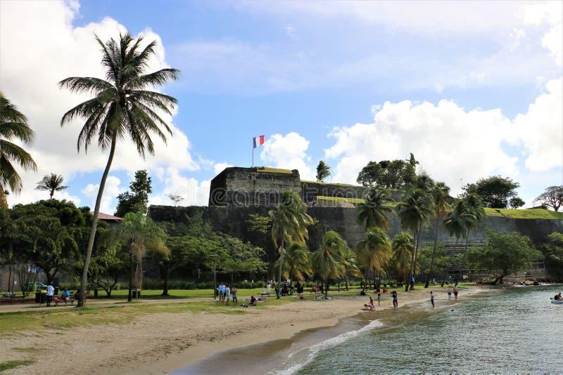 Fort Heilige Louis Martinique, Frankrijk stock fotografie