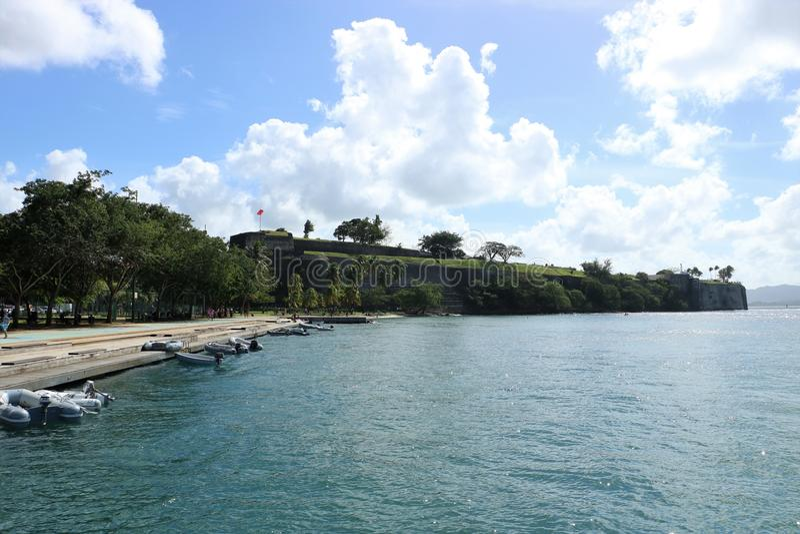 Fort Heilige Louis Martinique, Frankrijk royalty-vrije stock foto's