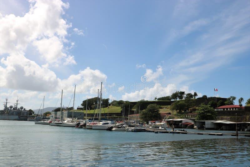Fort Heilige Louis Martinique, Frankrijk stock foto