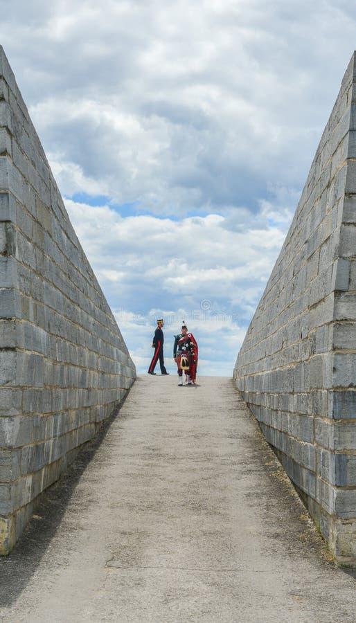 Fort Henry, żołnierze zdjęcia stock