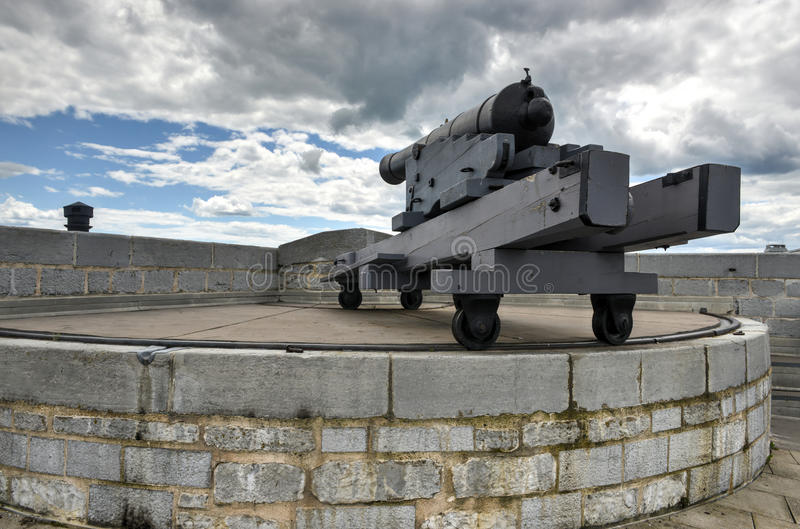 Fort Henry National Historic Site Cannon royalty-vrije stock fotografie