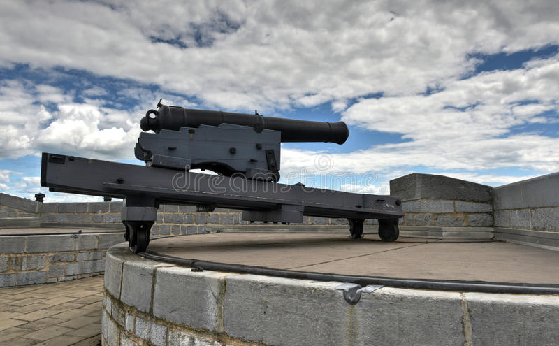Fort Henry National Historic Site Cannon photographie stock