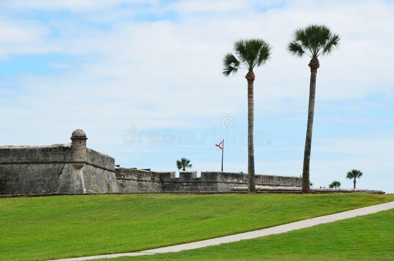 Fort historique St Augustine photo stock