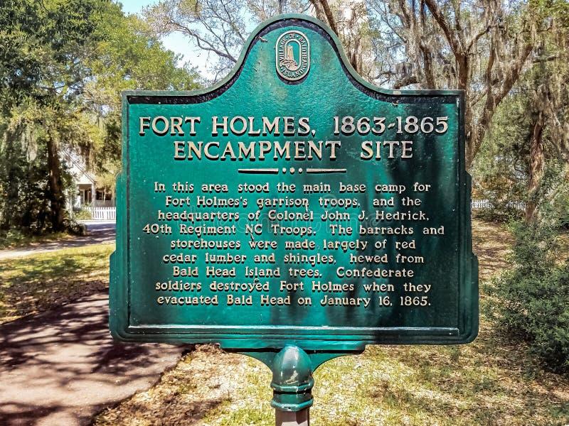 Fort Holmes lizenzfreie stockfotos