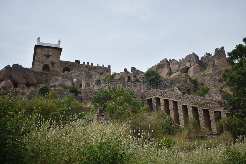 Fort Hyderabad de GolKonda photo libre de droits